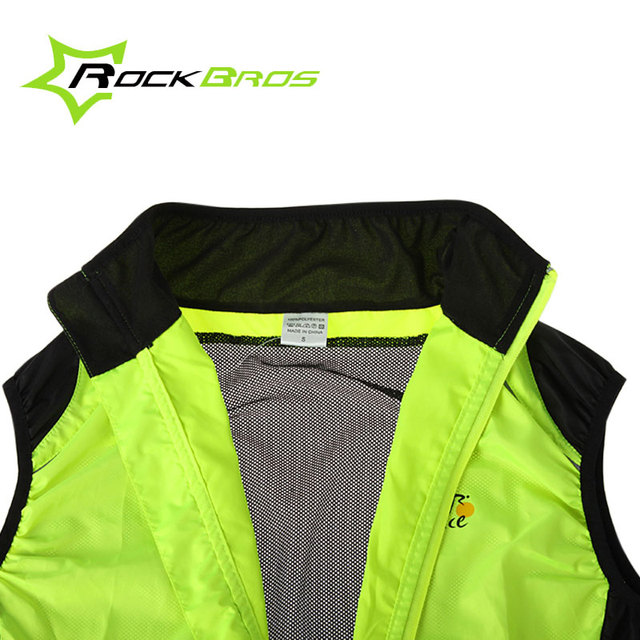 ROCKBROS Gilet Breathable Cycling Vest Waterproof MTB Road Bike Bicycle Raincoat Jersey Quick Dry Mens Summer Chaleco Ciclismo