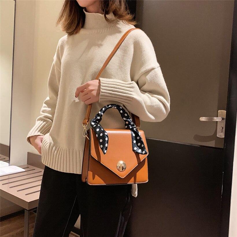 Big Sale 2018 Autumn New Bag for Women Tide Female Bag Wild Big Bag Retro Handbag Commuter Scarf Femme Shoulder Messenger Bag 3