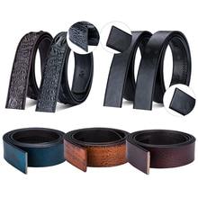 DiBanGu Cowhide Belt Strap Leather Belt Straps No Buckle Genuine Leather Belts Automatic Buckle Belt For Men Wholesale Hot