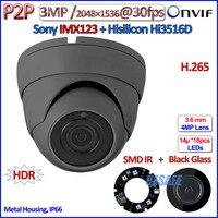 H.265 Hi3516D 1080จุดมินิกล้องip P2P IMX123