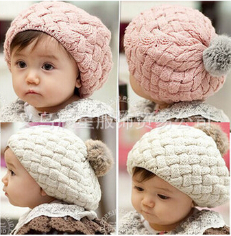 baby hat kids baby photo props beanie,faux rabbit fur gorros bebes crochet beanie toddler cap for 3 months-3 years old girl