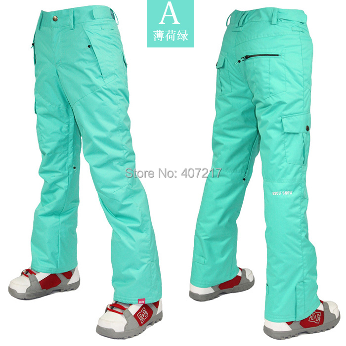 цены 2015 womens ski pants ladies snowboarding pants outdoor sports pants waterproof breathable warm mint green