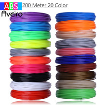 3D Pen Plastic ABS Filament 1.75mm 20 Meter 20 Colors 3 D Printer Filaments Materials For printing Pens Best Birthday's Gifts