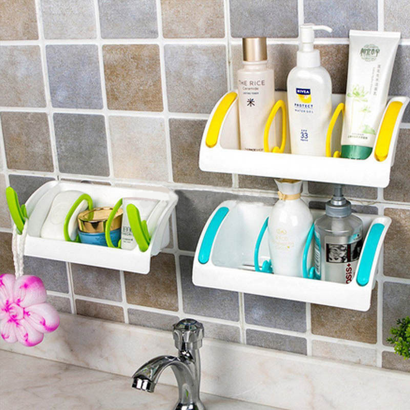 Kitchen Sink Sponge Holder Bathroom Storage Shelf Rack Organiser With Suction Cup Seasoning Holder 3 Colors. Online Get Cheap Storage Bathroom  Aliexpress com   Alibaba Group