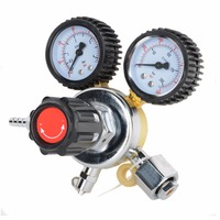 1pc High Quality CO2 System Regulator Adjustable G1 2 Dual Gauge Regulator For Carbon Dioxide Beer