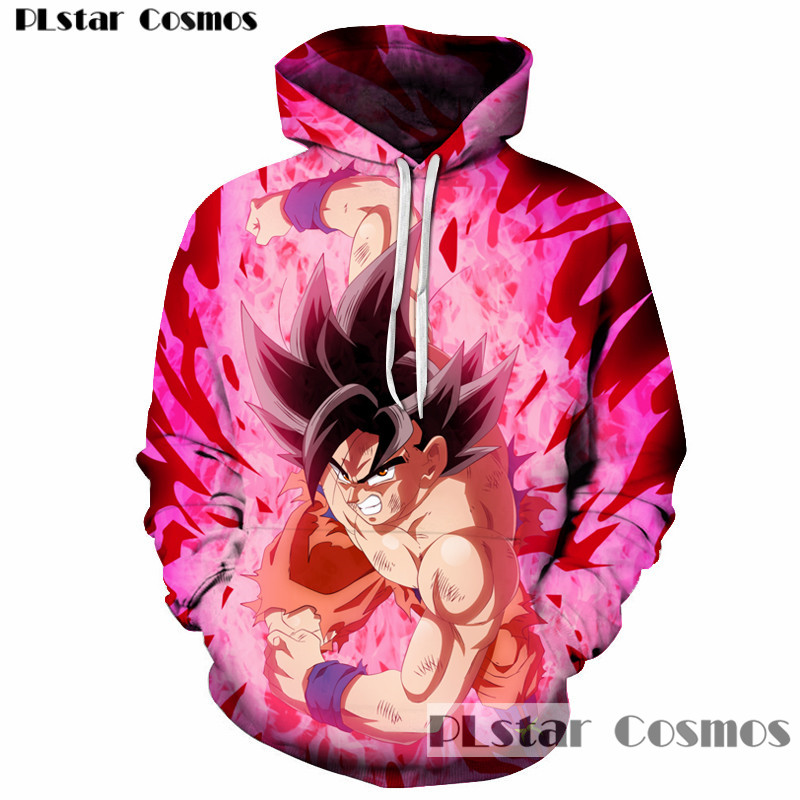 PLstar Cosmos free shipping anger Vegeta Dragon Ball Z Hoodies 3d Pullovers Sportswear Women Men Goku Hoode Hooded Sweatshirt