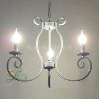 Várias luzes restaurante Mediterrâneo país da América sala Lustre de Ferro vela lâmpada antique vintag ZX47