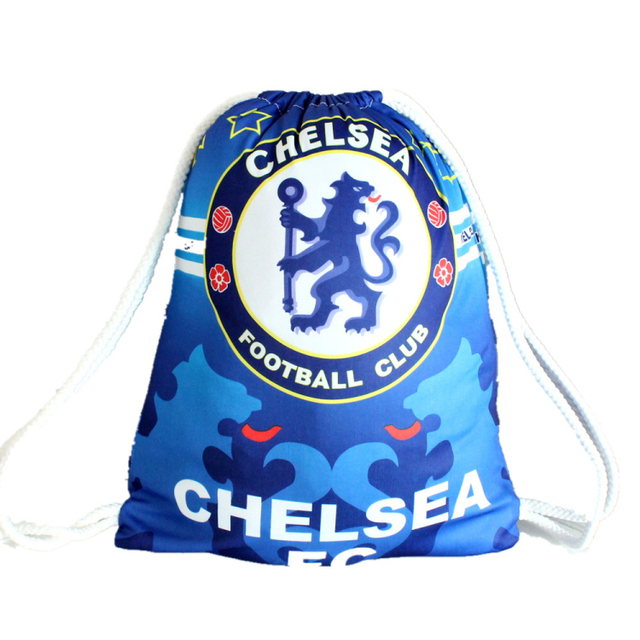 ChelseaFootball Club Sports Cinch Sack Pack Drawstring Bag Gym Swim School  Bags Boys Personalized Rucksack Sale 000e9758e