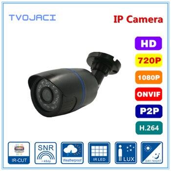 цена на H.264 H.265 Surveillance IP Camera  1MP/2MP Waterproof Outdoor Network CCTV Camera With 24PCS IR LED  Plast bullet Camera  ONVIF