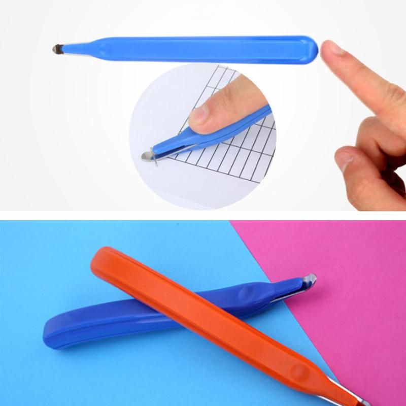 1pc Hand Holder Magnetic Staple Remover Plastic Rubber Staple Remover Tool Multicolor Students Stationery School Office Supplies