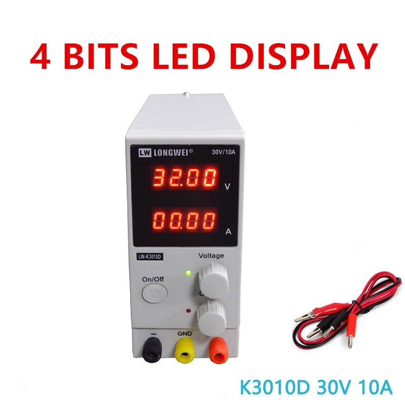 30V 10A 4 Bits LED Display Adjustable Switching Regulator DC Power Supply Laptop Repair 110V 220V