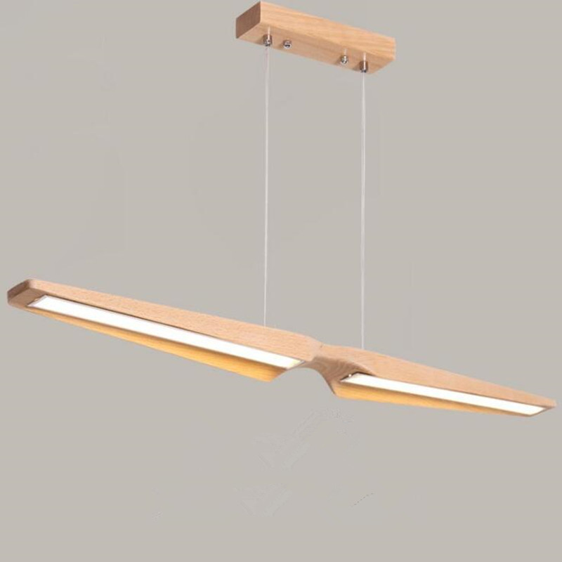 Nordic Restaurant Suspension Luminaire LED Pendant Lamp Wooden Solid Wood Working Office Deco Lamp Japanese Home Hanging Light