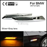 1 Pair Auto Car LED Fender Side Lamp Marker Turn Signal Lights Amber For BMW E81