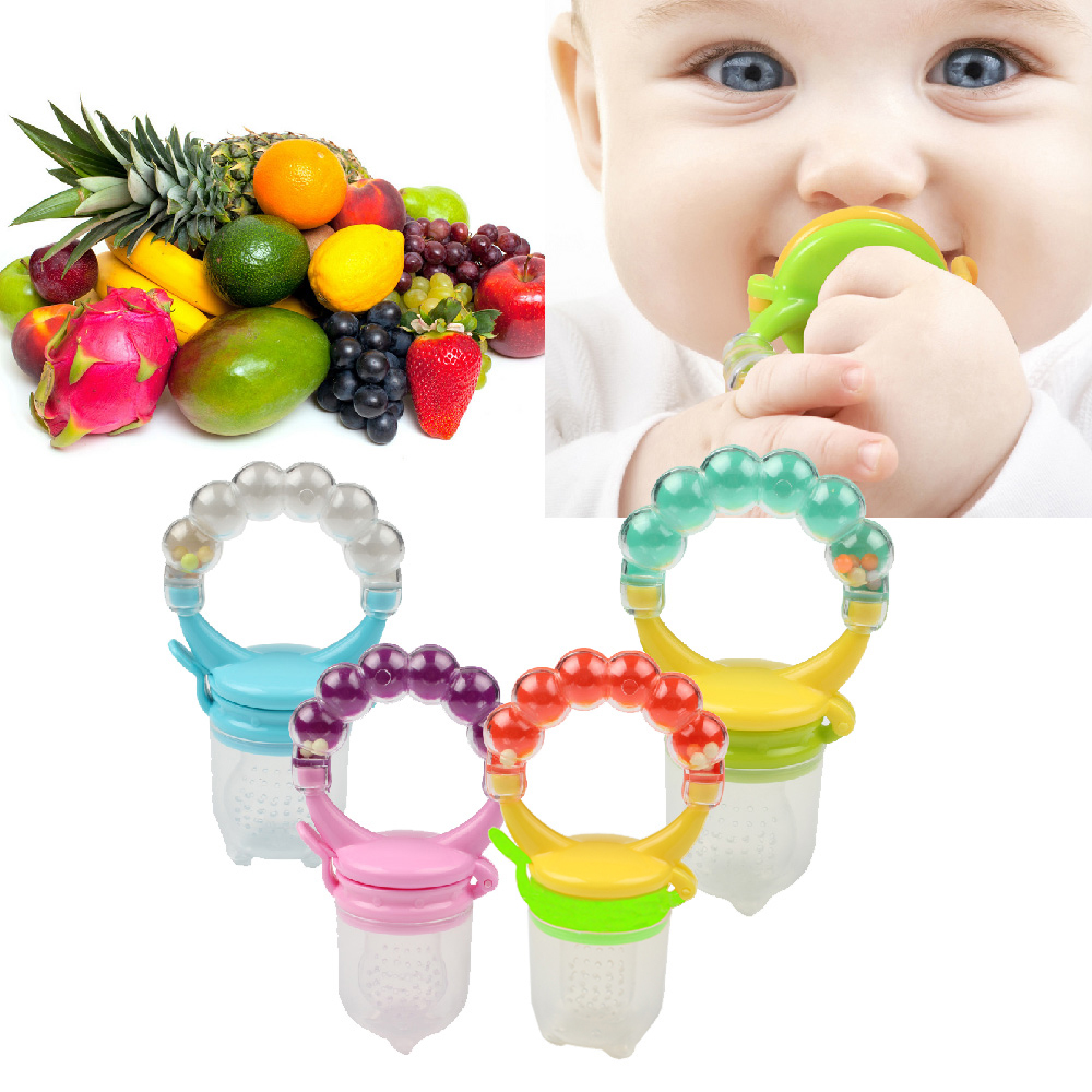 1 Pcs Fresh Food Nibbler Baby Pacifiers Feeder Kids Fruit Feeder Nipples Feeding Safe Baby Supplies Nipple Teat Pacifier Bottles feeder needle cylinder type feeder feeds the baby to feed the water into his mouth to eat anti choking nipple type baby feeding