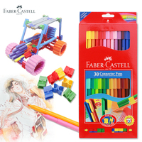 Faber Castell 30 Colors Cute Creative Colorful Crayons Connector Watercolor Gel Pen For Drawing Art Stationery