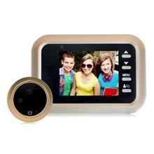 W8 2,4 дюймовый ЖК-цветной экран дверной глазок цифровой дверной глазок Инфракрасная камера ночного видения для домашней безопасности