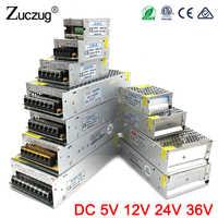 Adaptador de corriente DC 5 V 12 V 24 V 3A 5A 10A 15A 20A 25A 30A transformadores para iluminación de 5 12 lámpara de cinta LED de suministro de controlador de 24 V voltios