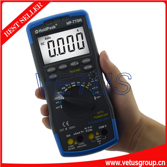 hp 770h voltmeter digital with multimeter specifications current