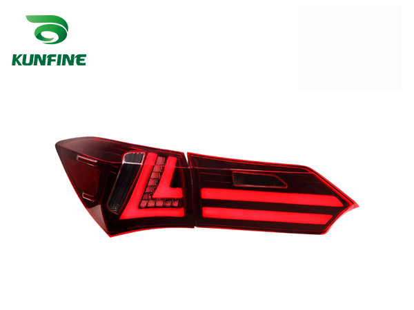 Pair Of Car Tail Light Assembly For TOYOTA COROLLA 2014 LED Brake Light With Turning Signal Light KF-L7066 pair of car tail light assembly for honda city 2014 brake light with turning signal light
