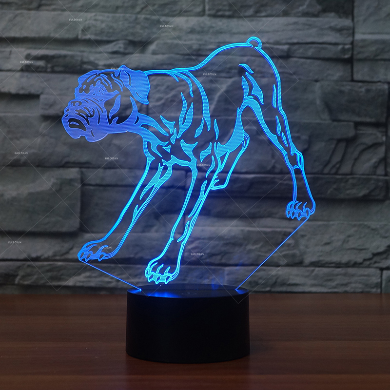 cartoon Boxer dog shapes LED night lights 7 changing colors Christmas gifts for dogs Kids birthday presents best gift for dog wonderfoam shapes assorted shapes colors 720 pieces pack