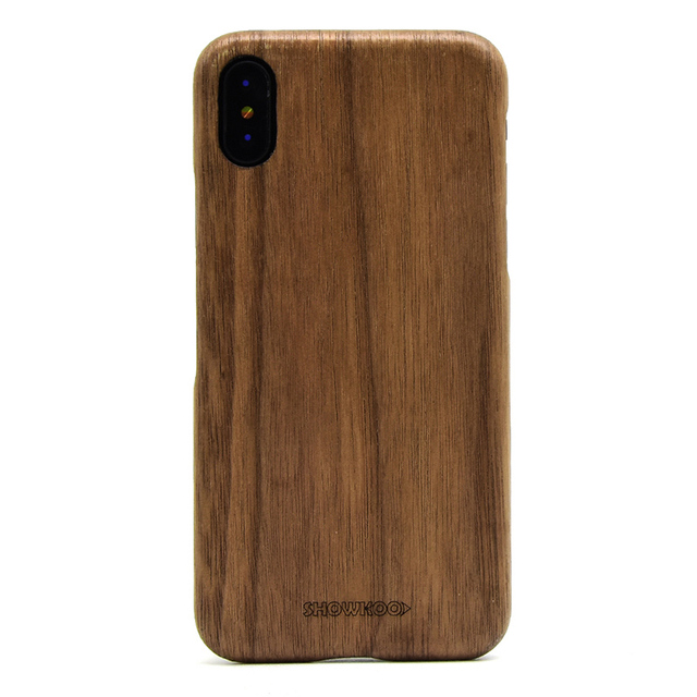 reputable site 6636b b1c45 Best Quality Showkoo For iPhone X wooden case with kevlar fiber 5.8 inch  Natural wood Cover For iPhone X Light soft Case Cover-in Fitted Cases from  ...