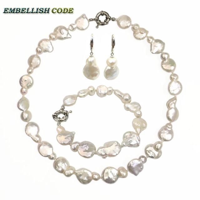 huge product necklace baroque for white women pearls shape nucleated freshwater shaped irregular large pearl