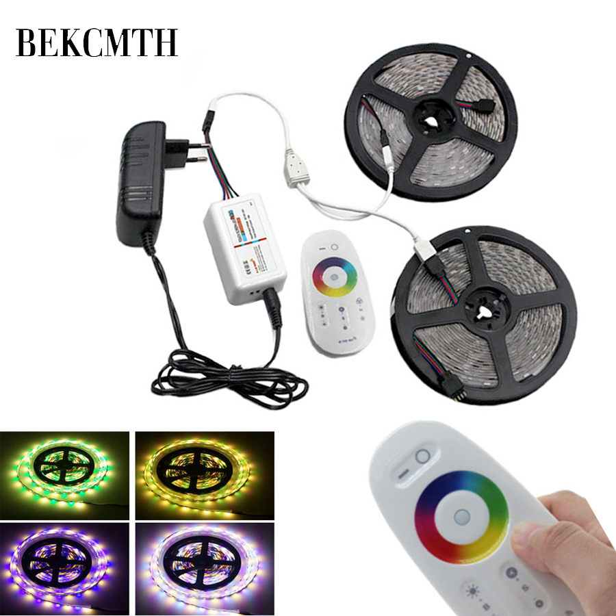 BEKCMTH 5M 10M 15M 5050 Led Strip DC 12 V RGB/RGBW/RGBWW LED Strip Light Flexible Tape Led Ribbon For Home Christmas Party