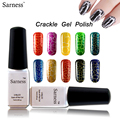 Sarness Crack nail polish crackle UV gel nail polish 3d nail art gel uv gel nagellak 12 lucky color fashion led lamp nail