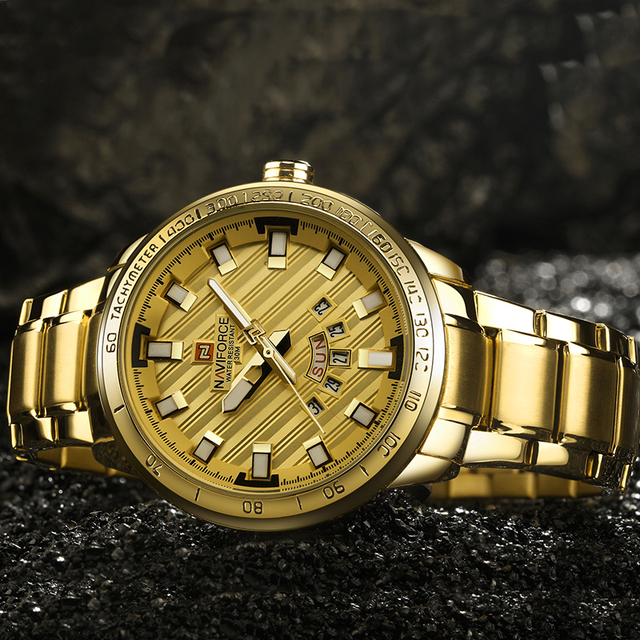 Złoty zegarek dla mężczyzn