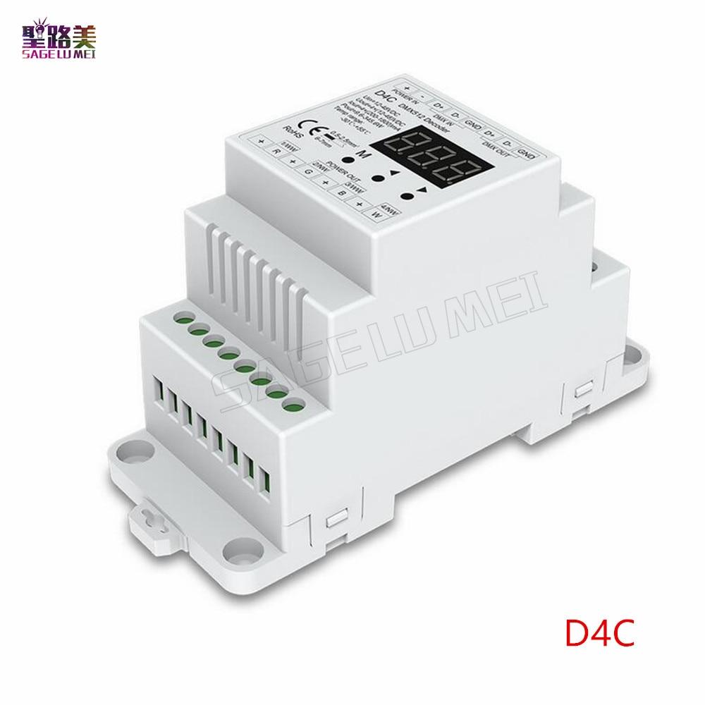 DC5V 12V 24V 36V  4CH PWM constant voltage / constant current CC CV DMX decoder DMX512 LED Controller for RGB RGBW LED Tape lamp