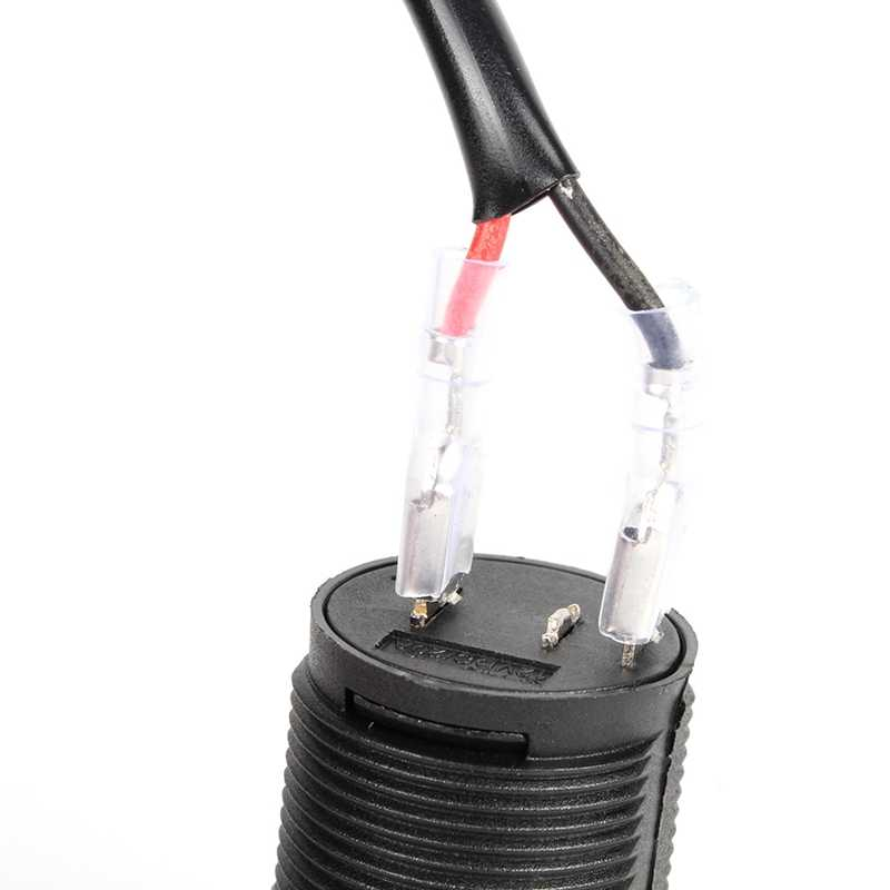 Universal 12V/24V Cigarette Lighter Boat Power Socket Motorbike Car Motorcycle Power Cord Plug Tractor Car Charger Lighter Wires