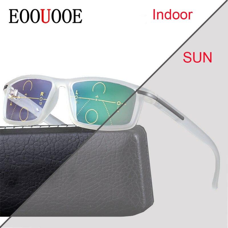 13848073e0 Multifocal Progresiva lentes de transición gafas de sol fotocromáticos  gafas de lectura de los puntos para el lector cerca de lejos vista dioptrías