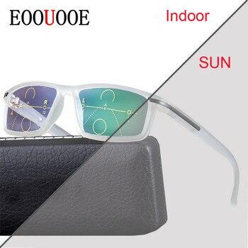 72ada8bc6ea57 Multifocal Progresiva lentes de transición gafas de sol fotocromáticos gafas  de lectura de los puntos para el lector cerca de lejos vista dioptrías