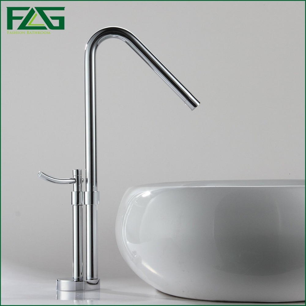 цена на FLG European Basin Faucet Chrome Polished Single Lever 360 Degree Rotating Cold And Hot  Vegetable washing Sink Mixer Taps M055