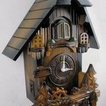 Настенные часы в европейском стиле с натуральным деревом, резьба по дереву, часы с принтом «cuckoo», бесшумные креативные настенные часы
