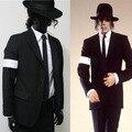Редкие MJ Майкл Джексон Черный Опасный Бад Костюм Тощие Пиджаки Верхняя Одежда Полный Набор Для Любителей Подарок