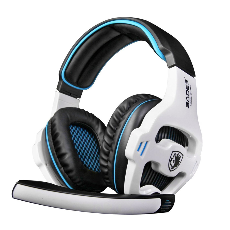 все цены на Sades SA-810 7.1 Surround Sound Gaming Headset Wired Headphone with Mic Volume Control Noise Cancelling Earphone Fone PC Gamer