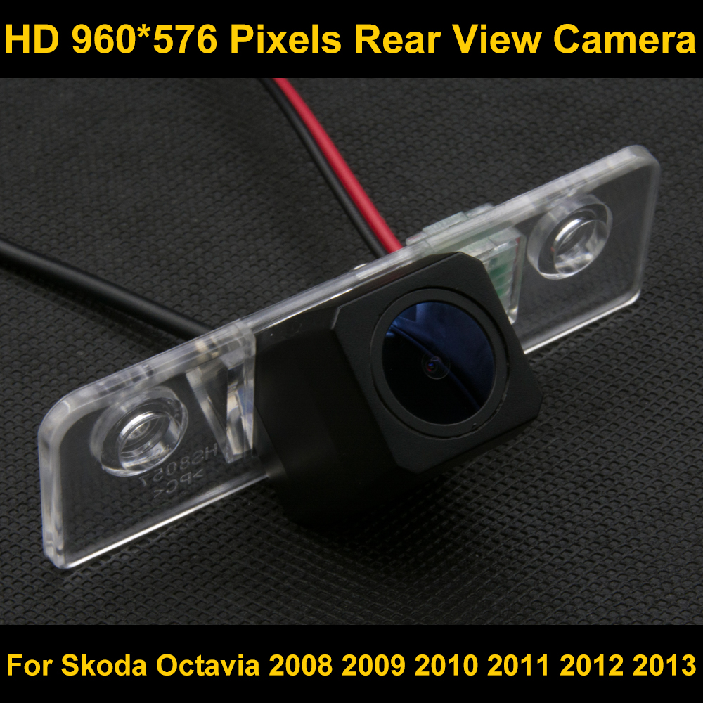 PAL HD 960 576 Pixels Parking Rear view font b Camera b font For For Skoda