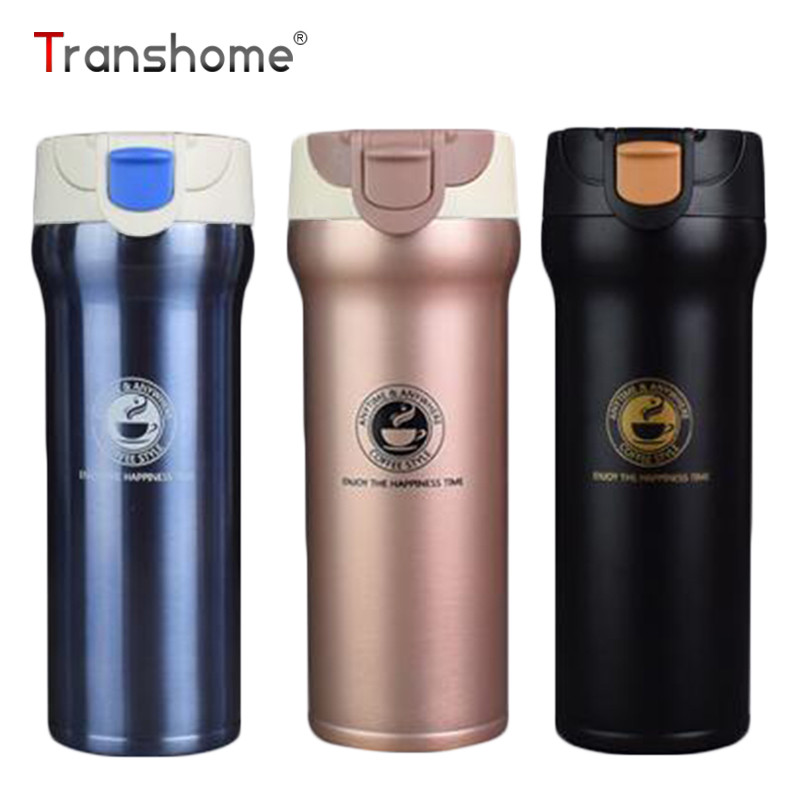 transhome thermos mug 500ml insulated thermos cup coffee cup stainless steel milk tea vacuum. Black Bedroom Furniture Sets. Home Design Ideas