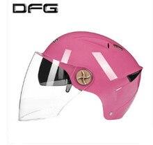 2018 Helmet Motorcycle Motorbike with one more Lens Summer Open Face Helmet Moto capacete para motocicleta casco free size