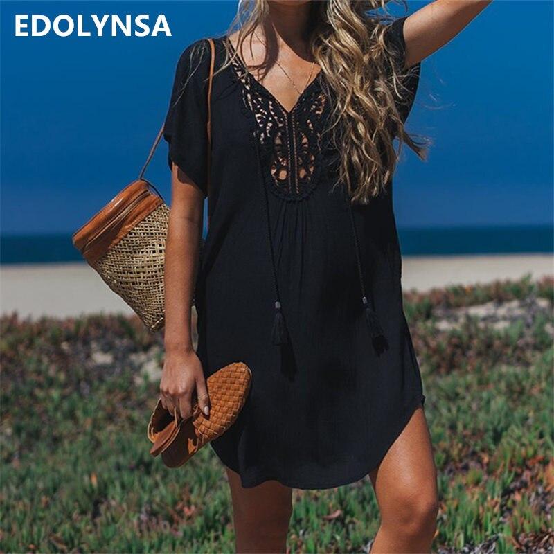6a0c5e4cb7df US $10.43 43% OFF|2019 Cotton Beach Cover up Sarong Swim Cover up Pareos de  Playa Mujer Beachwear Vestido Playa Bikini Cover up Tunics #Q710-in ...