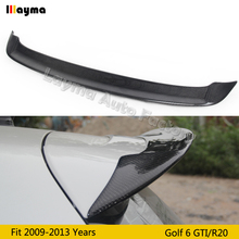 цена на OSIR Style Carbon Fiber roof wing spoiler For VW Golf VI GTI & R20 Car CF rear trunk spoiler 2009-2013 only fit MK6 GTI & R20