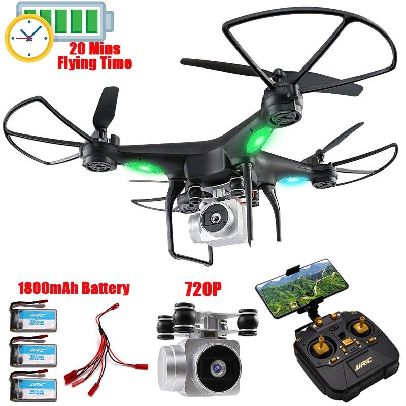 Maintien d'altitude RC Drone Télécommande Quadcopter Avec 720 p Wifi FPV Caméra RC Hélicoptère 20 minutes Professionnel Dron Quadrocopter
