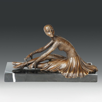 Bronze Statue dancing girl sculpture woman dance hostess figurine home decoration Upscale Artworks