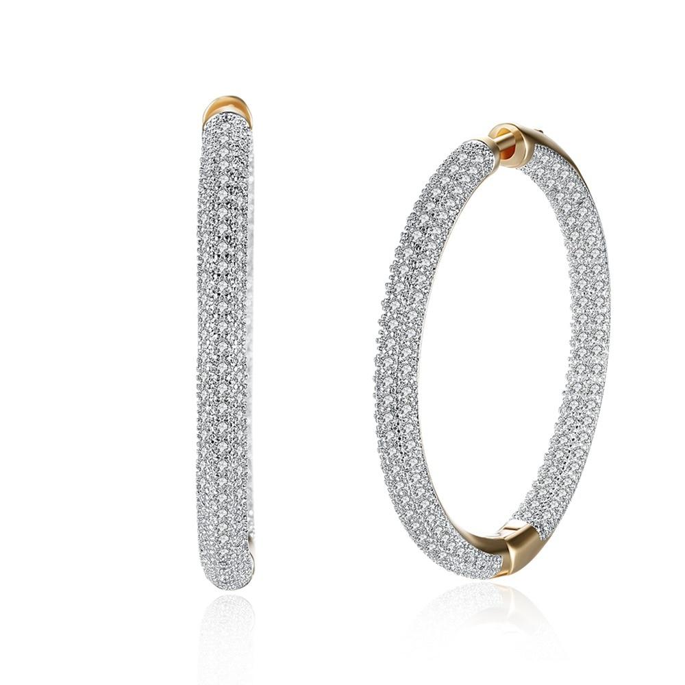 Hemiston Top Quality Luxury Big Full Paved Cubic Zirconia Creole Hoop Earrings, Romantic Jewelry Gift For Women Brincos TF 126E creole