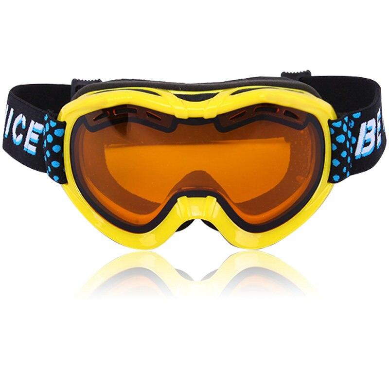 Prix pour Être belle nouvelle véritable double lentille anti-brouillard grand sphérique enfants ski lunettes multi couleur neige ski lunettes lunettes snow-2400