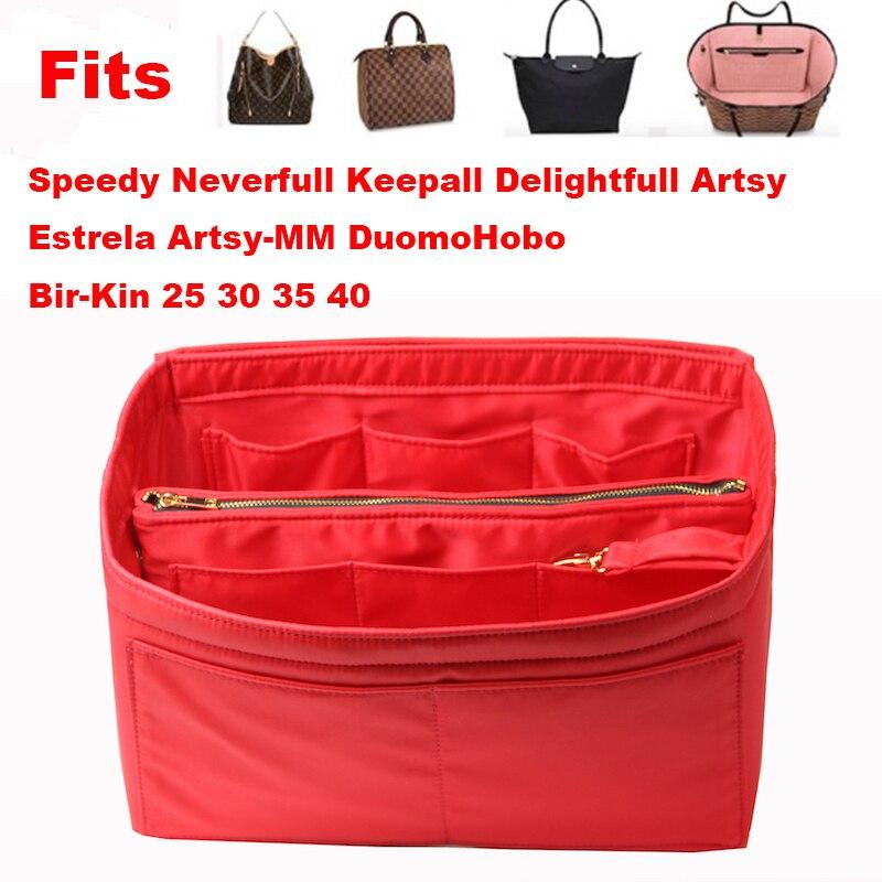 Fits[Neverfull MM PM GM Speedy]Purse Organizer waterproof Oxford Cloth Handbag Bag In Tote(w/Detachable Zip Pocket
