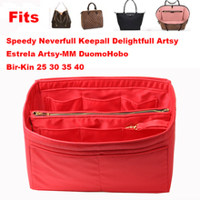 Fits[Neverfull MM PM GM Speedy]Purse Organizer waterproof Oxford Cloth Handbag Bag In Tote(w/Detachable Zip Pocket