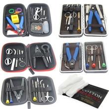 все цены на Electronic Cigarette Vape DIY Tool Bag VAPE Cotton Tweezers Pliers Wire Heaters Kit Coil Jig Winding For E-Cigarette Accessories онлайн