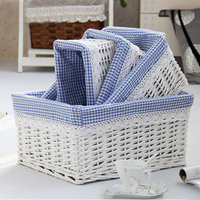 Set of 4 pieces of Wicker Storage Baskets